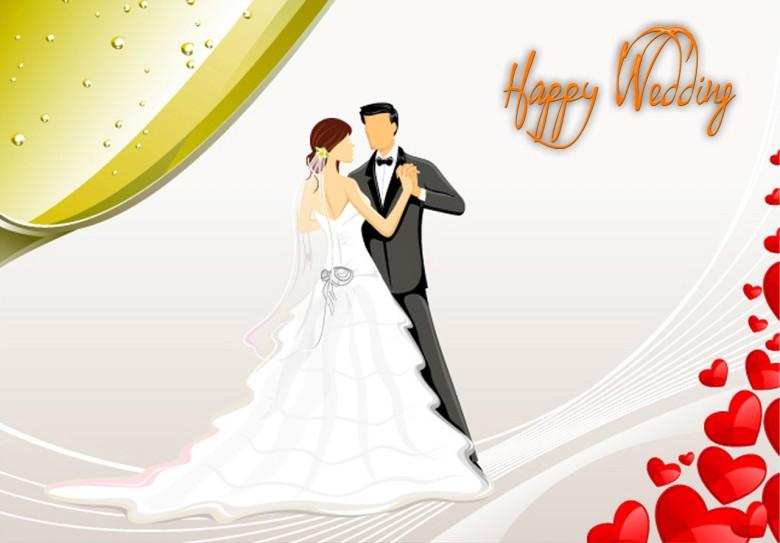 صورة تهنئة زواج بالانجليزي , احلى بطاقة تهنئة زواج جميلة بالانجليزى