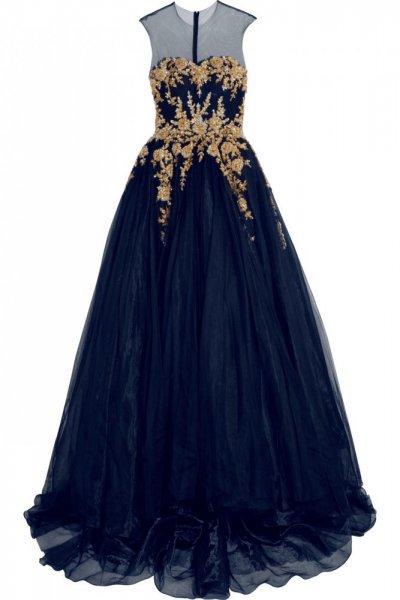 صورة فساتين شيفون طويل , اجمل فستان شيفون
