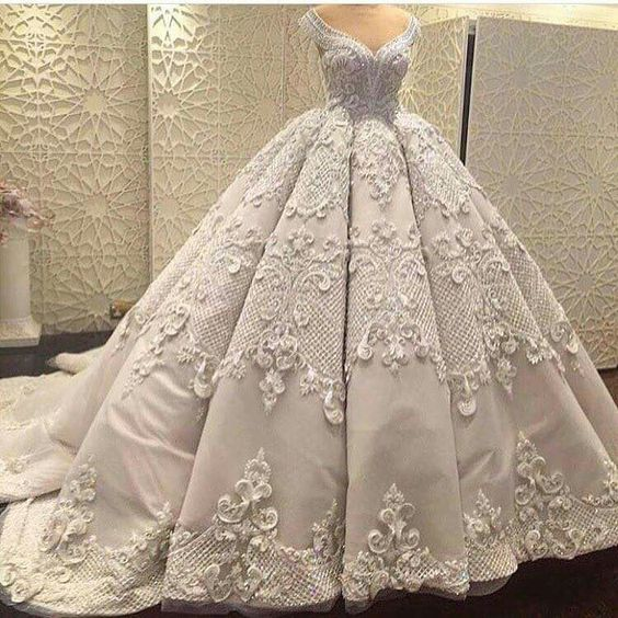 صورة فساتين عروس فخمة , احلى فستان لليله العمر