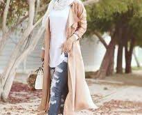 صورة ملابس شتوية للمحجبات 2019 , ازياء شتوي جميله
