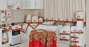 صورة طقم مطبخ بالقماش بالصور , تجهيزات المطبخ كامله