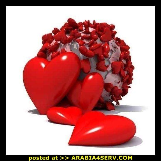 خلفيات قلوب وحروف