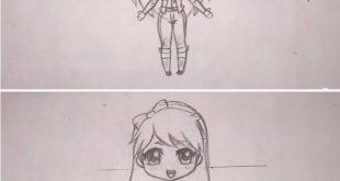 صور كيفية رسم فتاة , الطريقه الاساسيه لرسم اى فتاه بالصور والفيديو