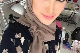 صورة لفات حجاب للوجه البيضاوي , اجمل لفات الحجاب للوجه البيضاوى
