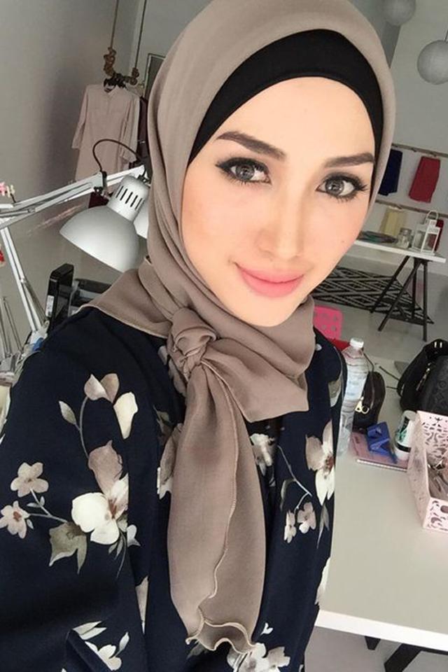 صور لفات حجاب للوجه البيضاوي , اجمل لفات الحجاب للوجه البيضاوى