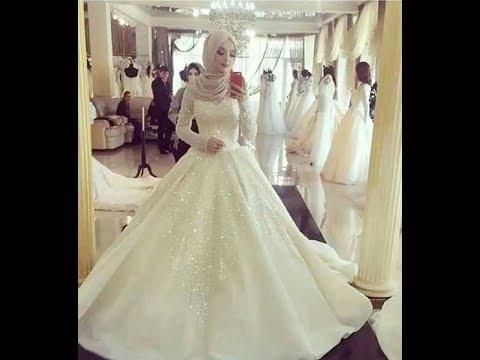 صور فساتين زفاف للمحجبات , اجمل الفساتين الجميلة والرقيقة للمحجبات
