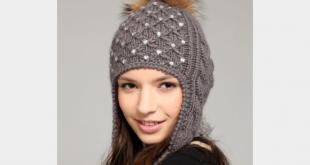 صورة طاقية كروشيه , صور مشغولات قبعات كروشيه بناتى