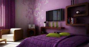صورة صور غرف نوم لون بنفسجي , اهمية اللون البنفسجي