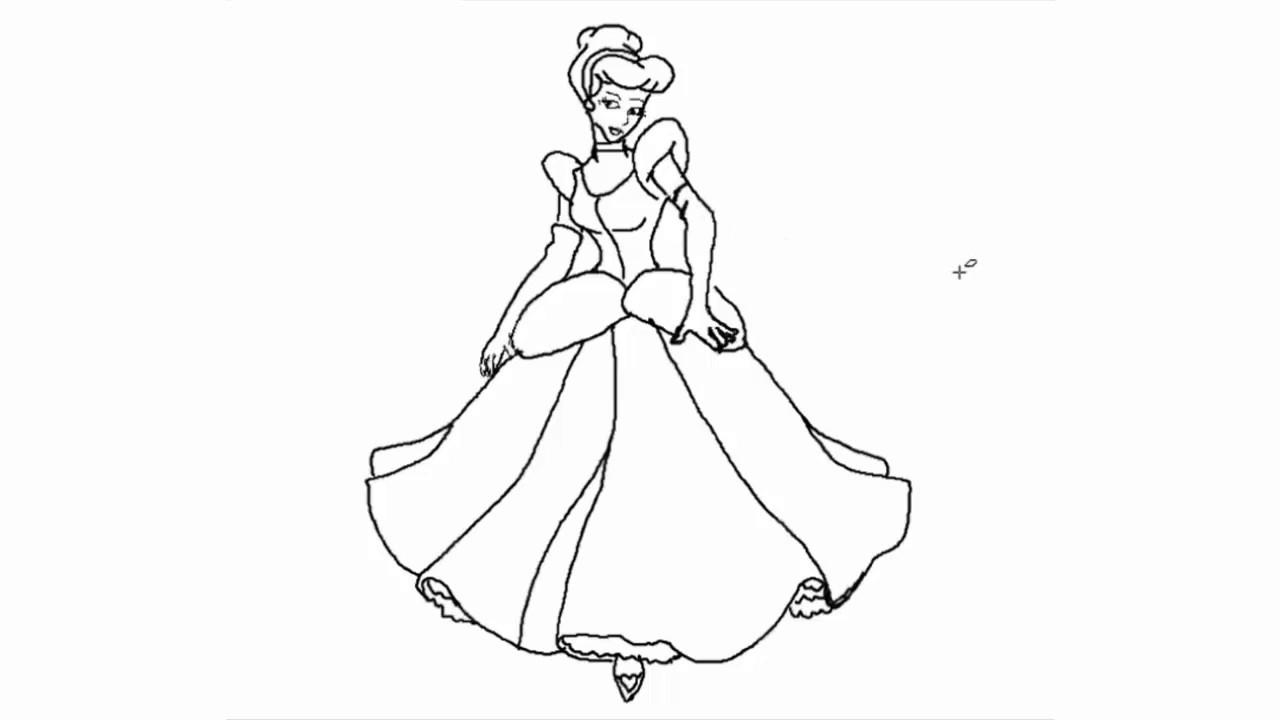صورة كيفية رسم سندريلا , قصة سندريلا