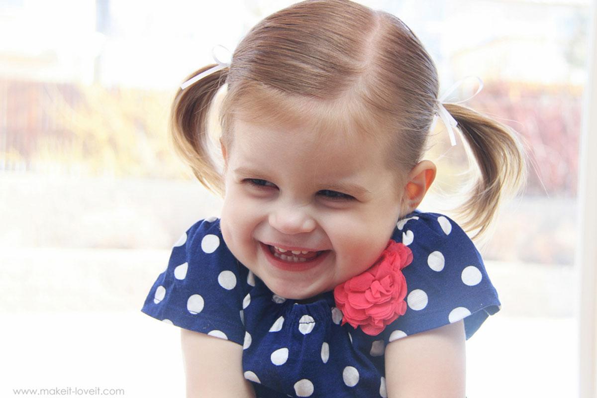 صورة تسريحات شعر للاطفال للشعر القصير والخفيف , ابسط تسريحات الشعرللبنات
