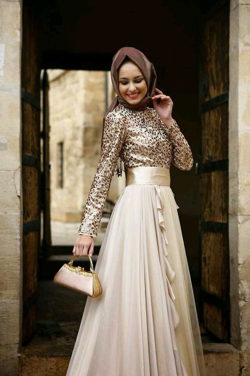 صور ملابس اعراس للمحجبات , اروع فستان عروسة